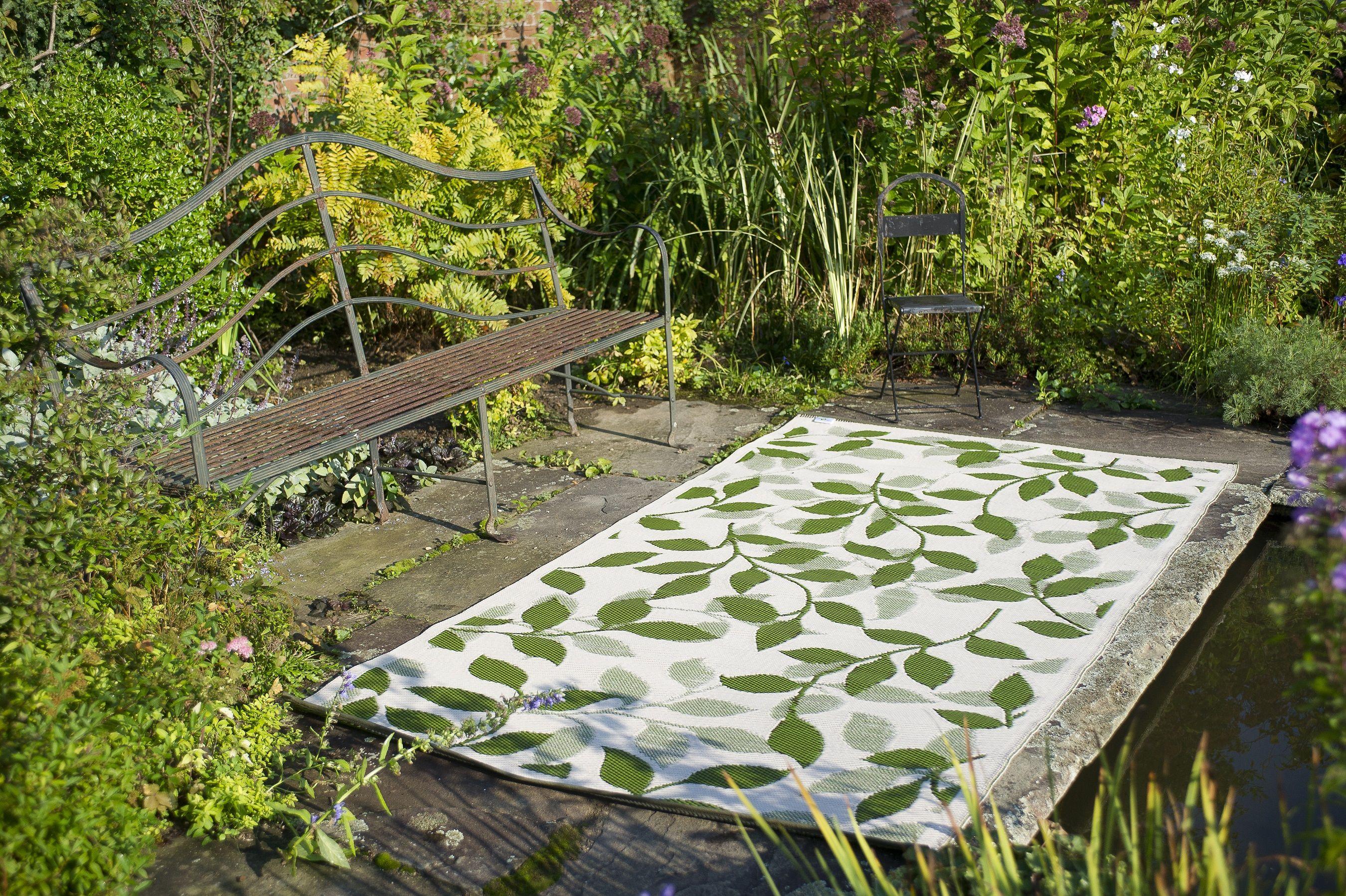 Fab Habitat Recycled Plastic Rugs Indoor Outdoor Rug Bali Forest Green Cream Green Outdoor Rug Outdoor Rugs Outdoor