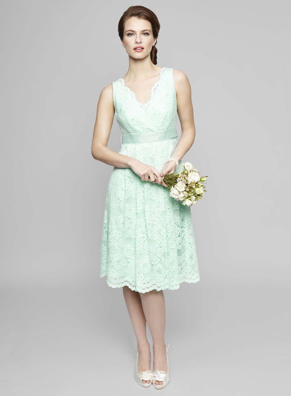 Mint Lottie Lace Bridesmaid Dress Bhs