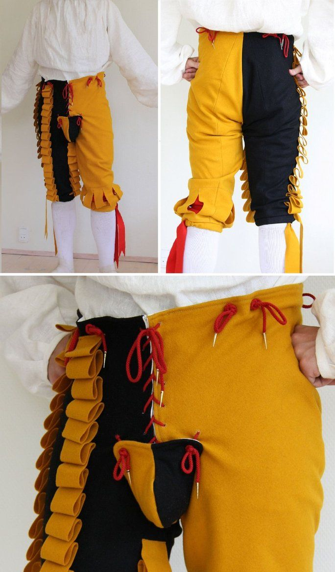 Mad trousers. Pinned because I want to see if anyone is brave enough to ask for a pair :)  Landsknecht - Hosen by ~Ring-A-Ding on deviantART