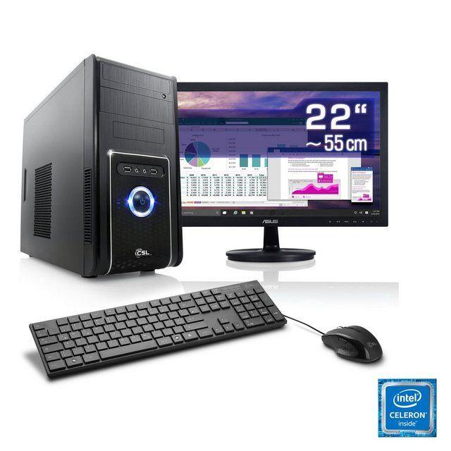 Office PC Set | Intel J3455 | 8 GB RAM | 22 TFT »Speed T1331 Windows 10 Home« #windows10