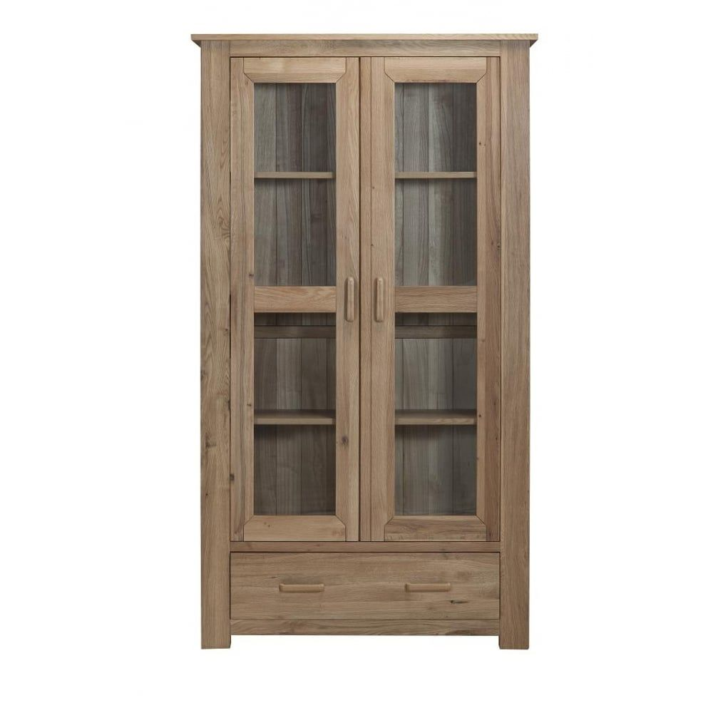Direct Home Living Sasso Oak Display Cabinet