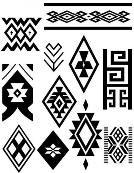 dessins amérindiens ethnique déco motifs tattoopattern