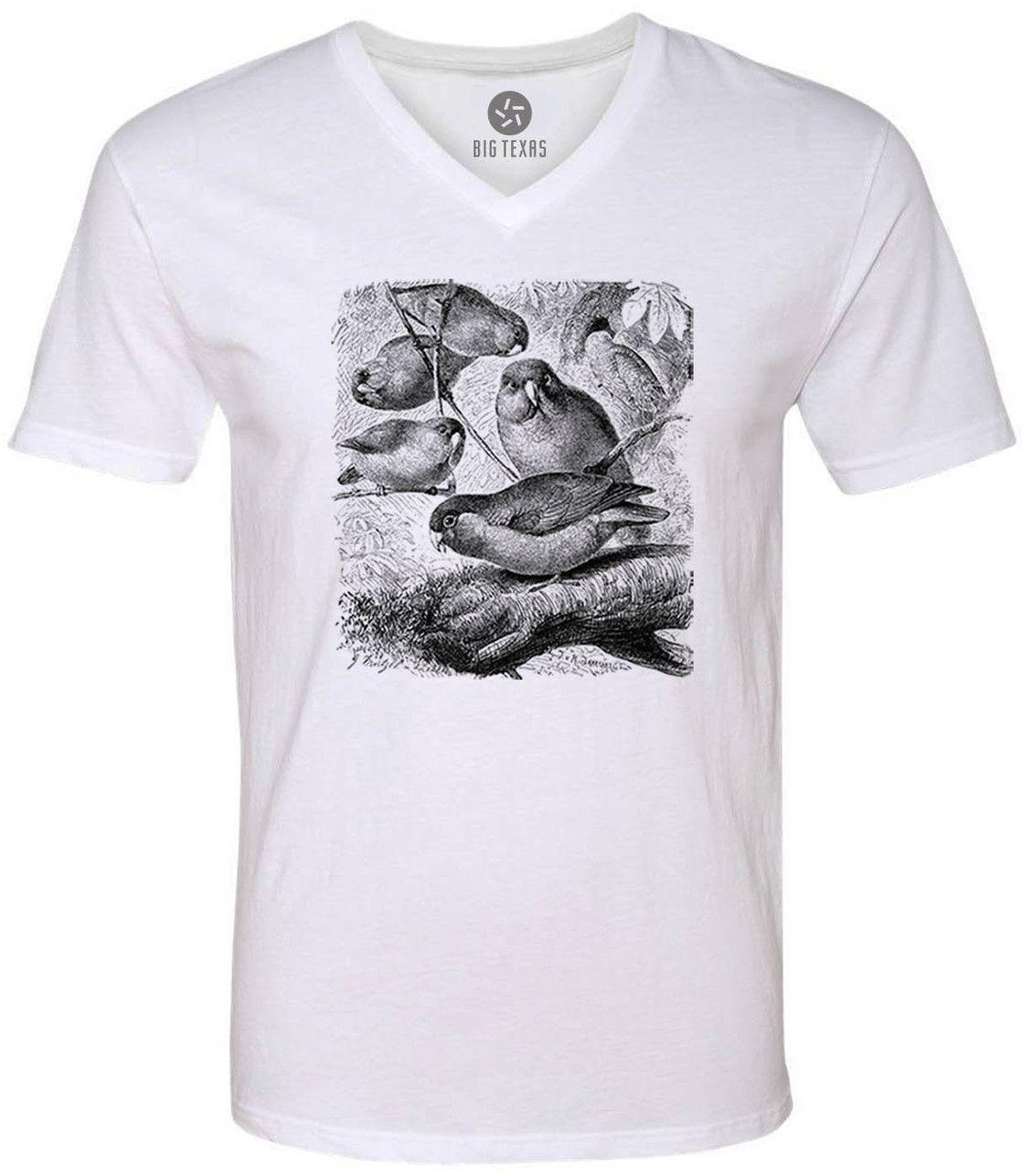 Jungle Parrots (Black) Short-Sleeve V-Neck T-Shirt