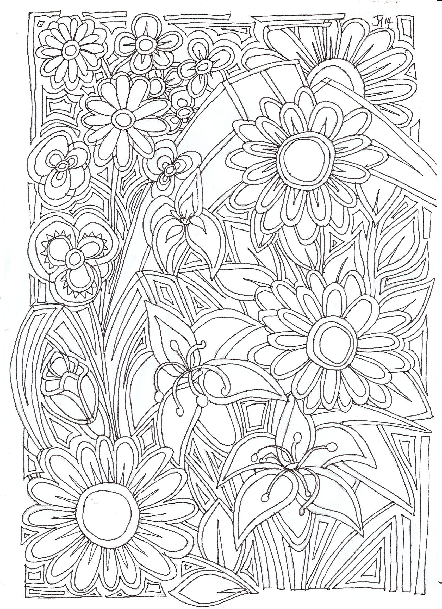 Floral my stuff pinterest coloring books