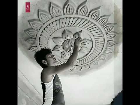 How to make cement flower ceiling design | excellent hand ...