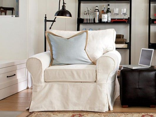 White Armchair Cover Love Making Chair Side Dream Home Pinterest Slipcovers