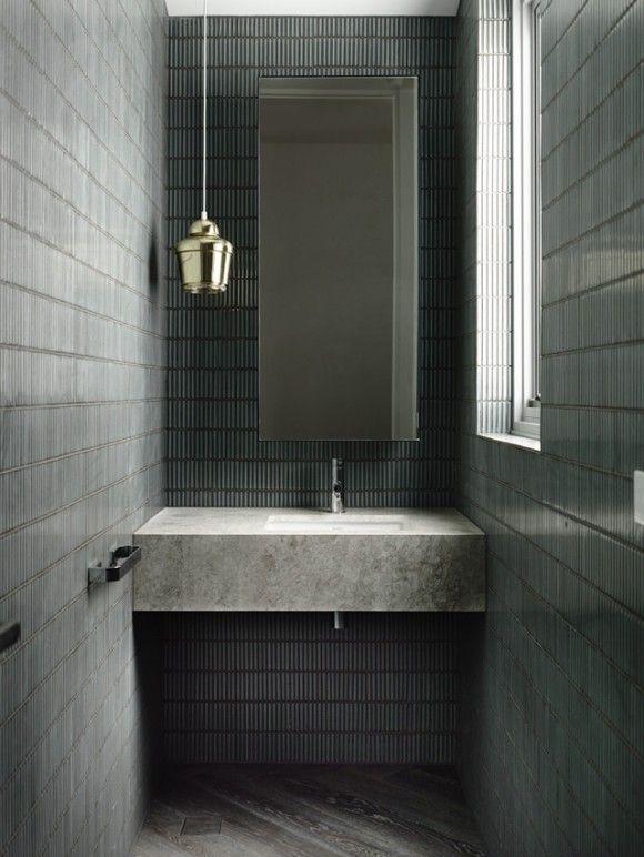 Reforma ba o encimera de m rmol con lavabo integrado - Marmol para banos ...