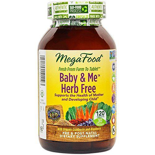 Megafood Baby Me Herb Free Prenatal Postnatal Support For Mother Baby 120 Tablets Click Best Prenatal Vitamins Free Prenatal Vitamins Prenatal Vitamins