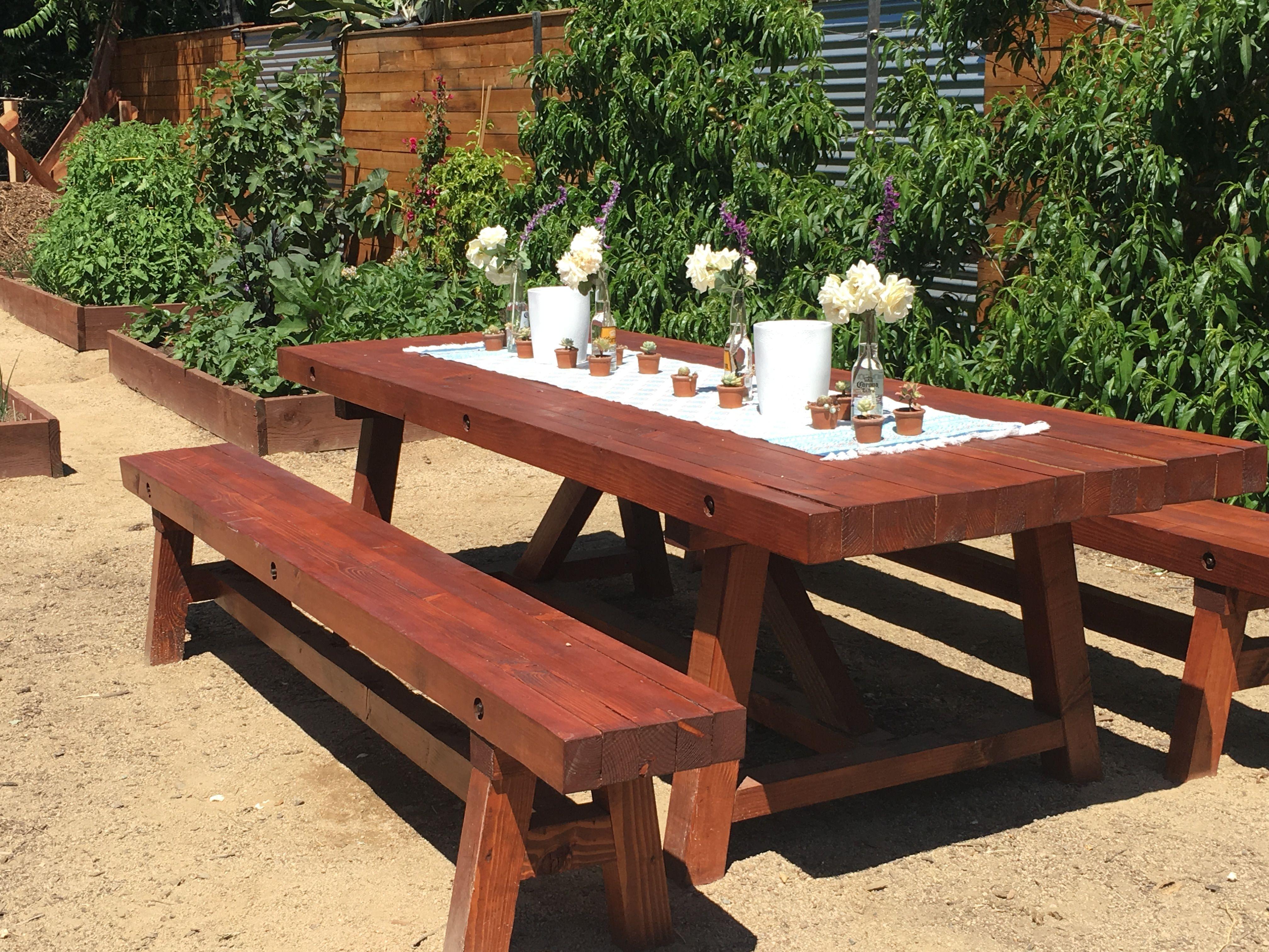 Diy farmhouse patio table and garden rustic dining table