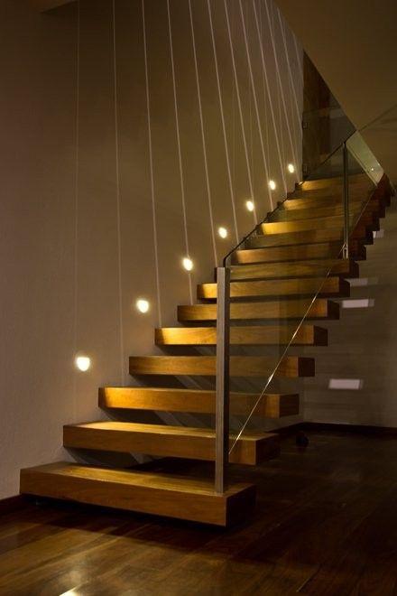 staircase lighting design. EMA, Espacio Multicultural Arquitectura, Designed The Forest House Located In Mazamitla, Mexico. Staircase Lighting Design I