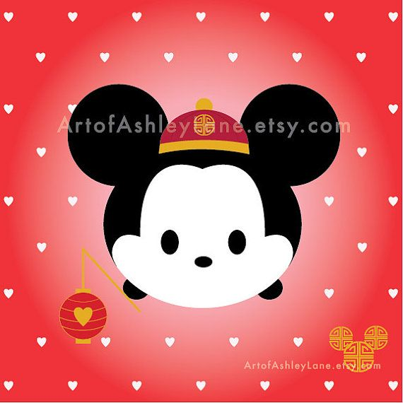 Lunar New Year Tsum Tsum Mickey By Artofashleylane On Etsy Bayi