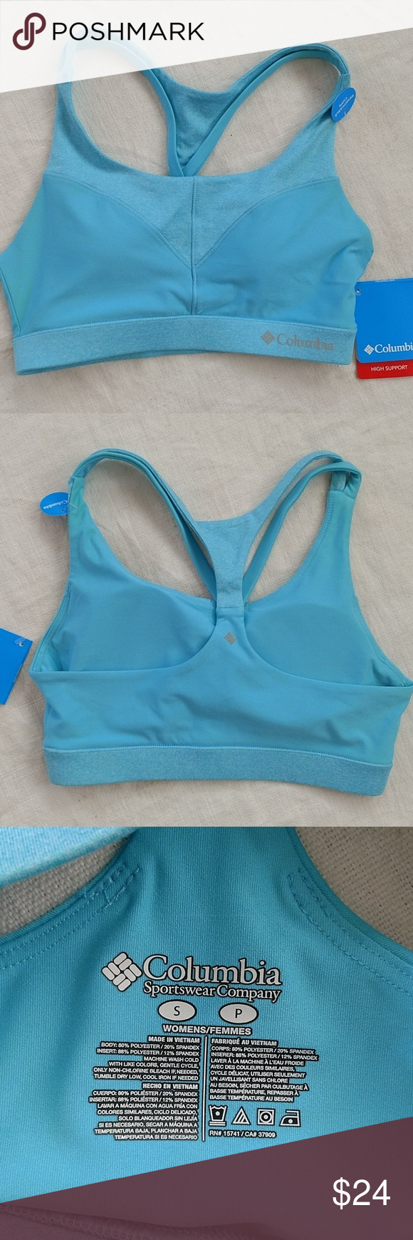 df99f2d4ec1c8 Columbia sports bra Brand new with tags Columbia sports bra women s size  small aqua colored thanks