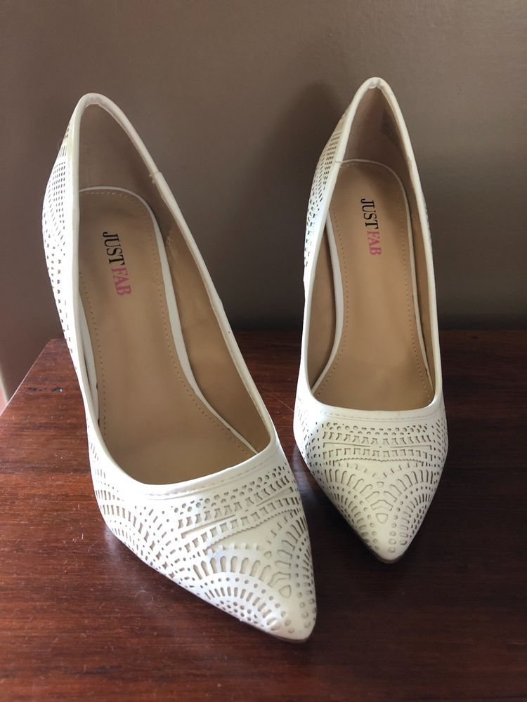 703e22221c JustFab white heels size 8.5 never worn before brand new #fashion #clothing  #shoes #accessories #womensshoes #heels (ebay link)