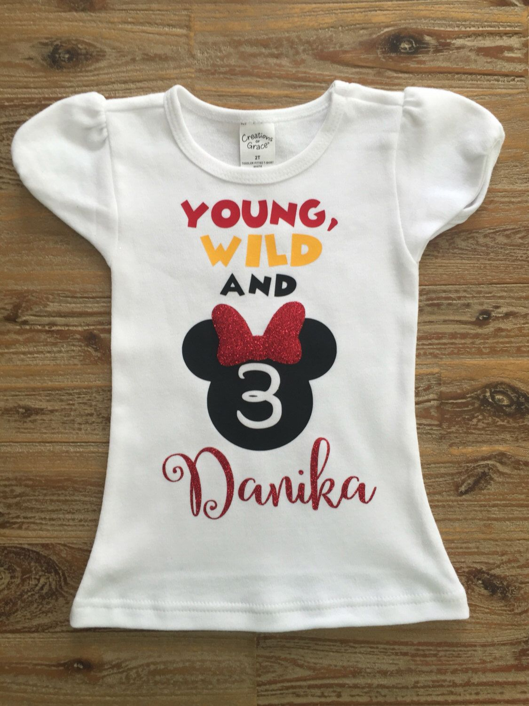 Minnie Mouse 4th Birthday Shirt  Black /& White  34 sleeve Raglan  Triple Ruffles  Disney Inspired Shirt  Sparkle Baby Girl  Toddler