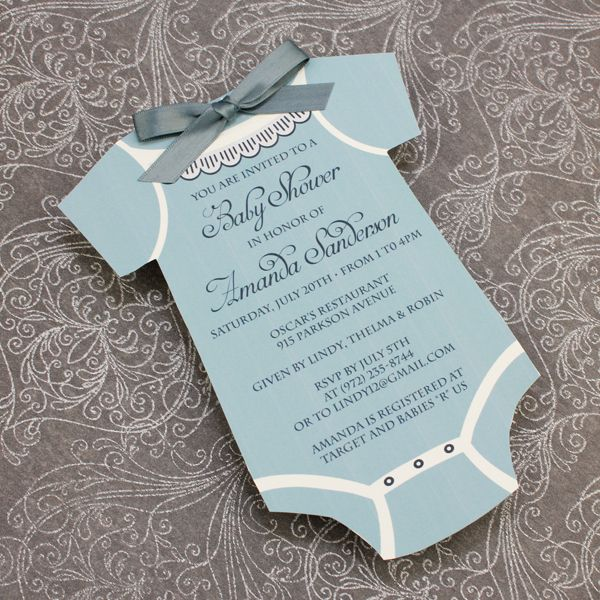 Baby Shower Invitation Template Boys Onsie Download \ Print - invitation download template