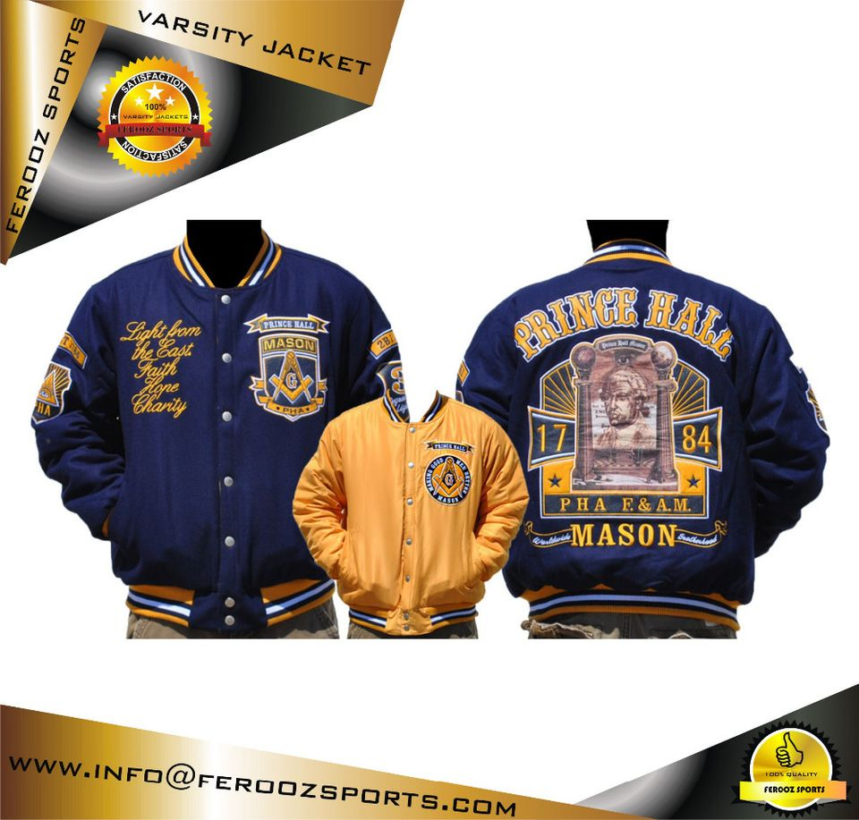 d3221807b Latest Model Mason Prince Hall Letterman Varsity jacket Baseball Jacket  College Jacket
