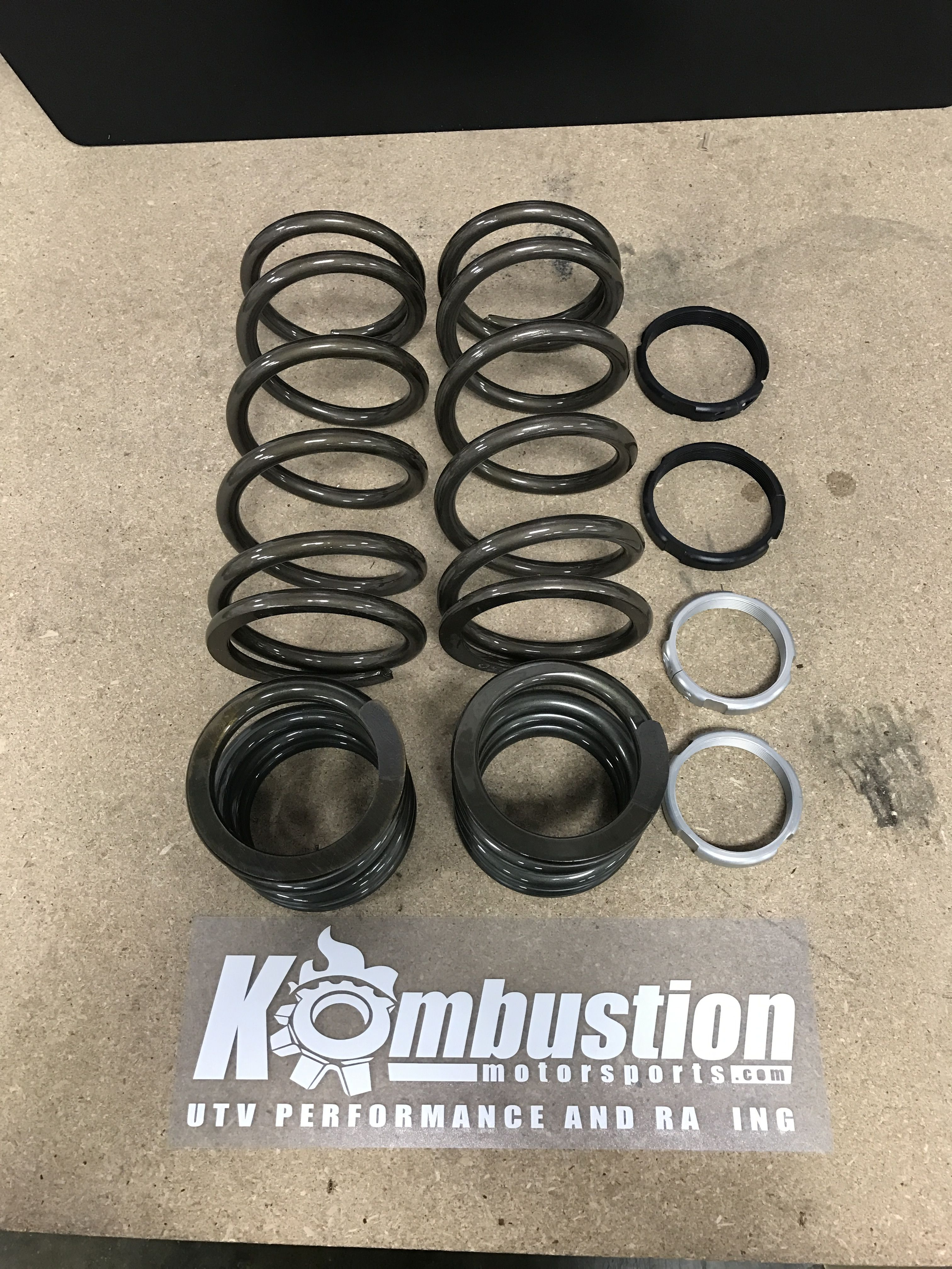 Zbroz Racing dual rate spring kit package for the Turbo and