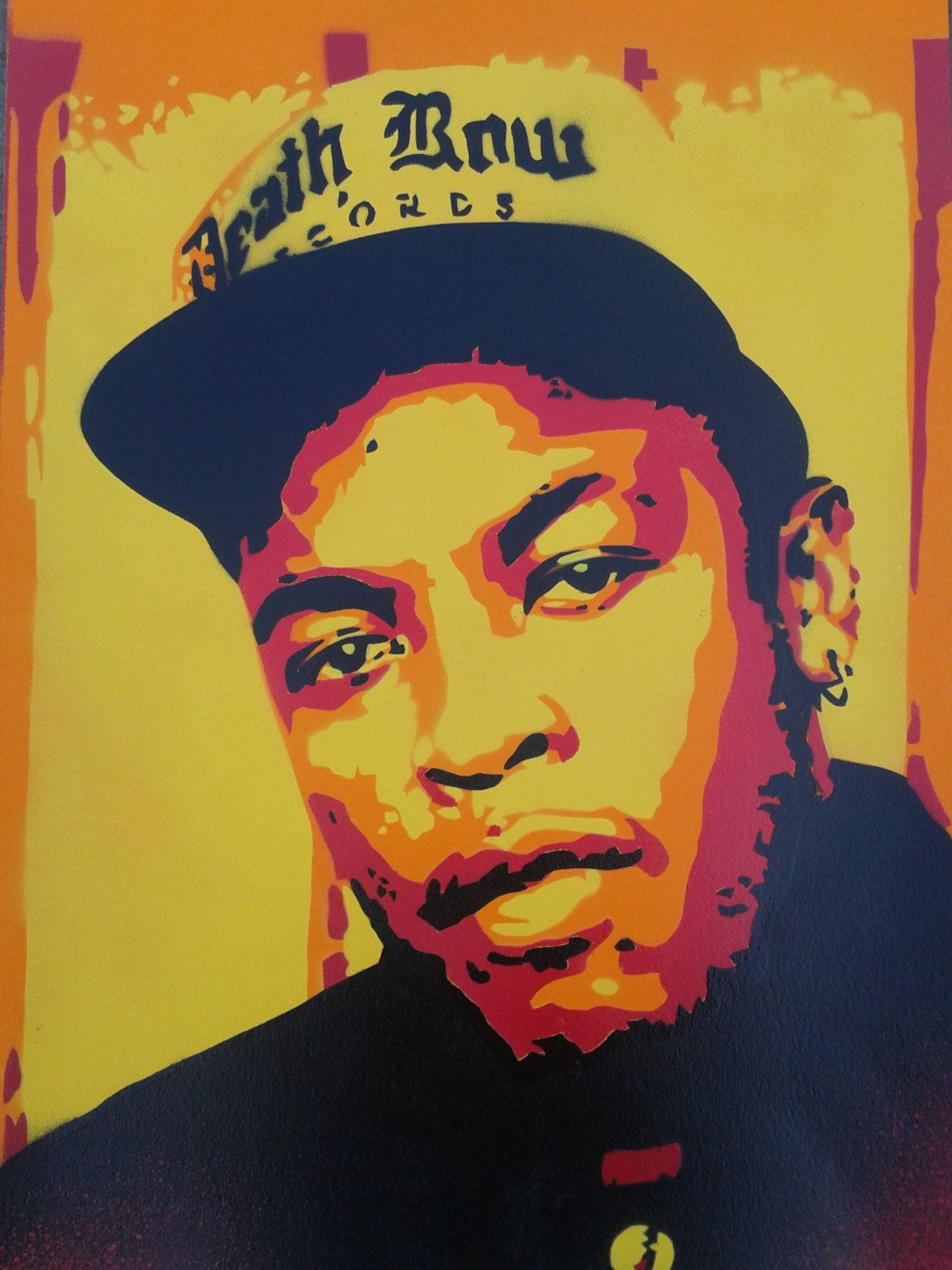 Dr Dre Paintingcanvasstencil Artspray By Abstractgraffitishop Hip Hop Art Rapper Art Art