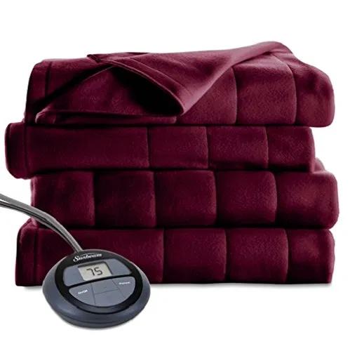 Sunbeam Microplush Heated Blanket, Queen, Heated