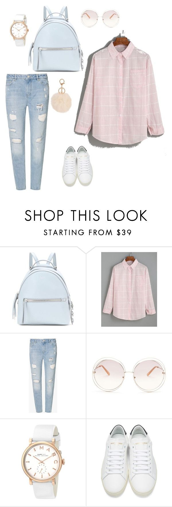 """""""1Day"""" by alenakrasa ❤ liked on Polyvore featuring Fendi, Zoe Karssen, Chloé, Marc by Marc Jacobs, Yves Saint Laurent and Armitage Avenue"""