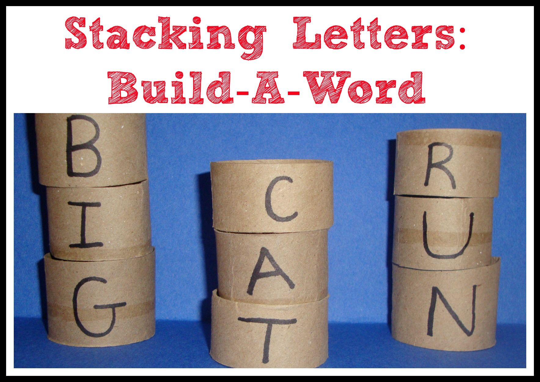Stacking Letters Build A Word