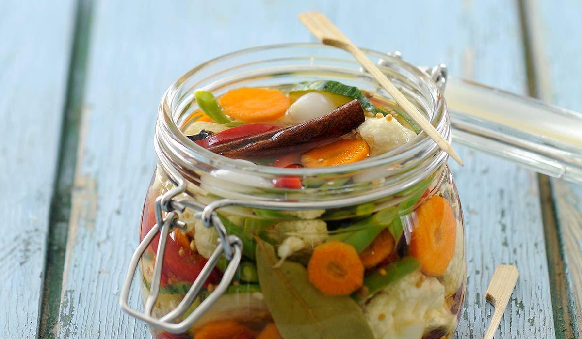 Giardiniera Jar Vegetable dishes, Italian recipes