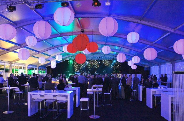 Corporate Event - Jubiläum VIP Firmenevent #Firmenevent #Eventbeleuchtung #Zeltdekoration