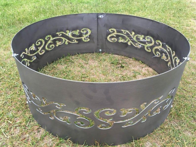 Fire ring fire pit outdoor backyard patio wood etsy