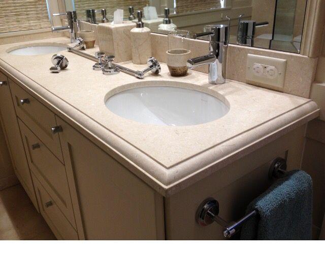 Crema Marfil Marble Bathroom Vanity J M Stoneworks With Images Marble Bathroom Vanity Marble Bathroom Granite Stone
