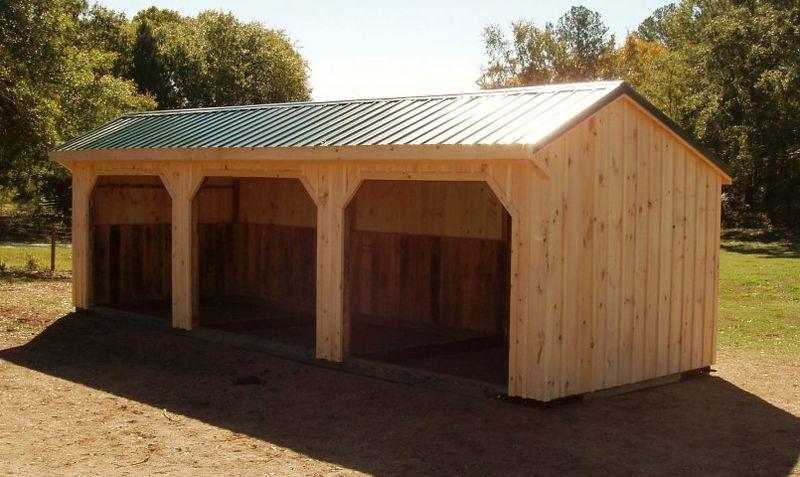 Abri chevaux abri pature abri prairie run in shed shed