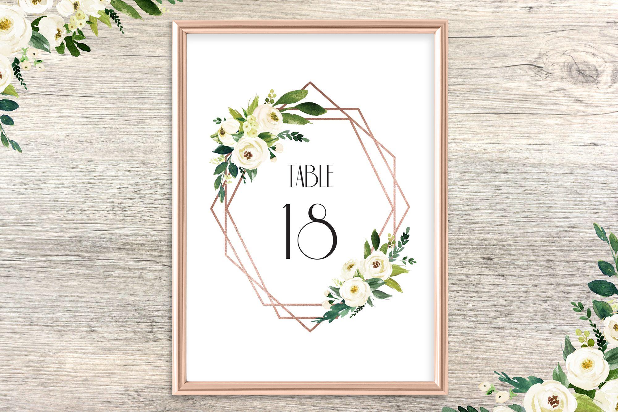 1920s wedding decoration ideas  Printable table numbersrose gold table numbers wedding table