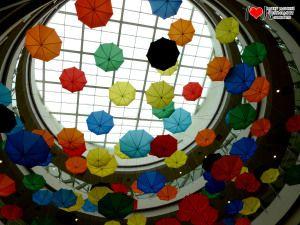 Creative, Umbrella, falling Umbrella, raining Umbrella, rainy season, monsoon, shopping mall, mall interiors