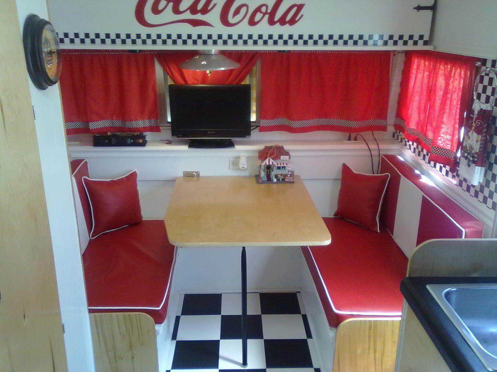 1972 Vintage Shasta Camper 50s Diner