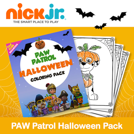 Paw Patrol Fall Coloring Pages : Nick jr has a fun new printable paw patrol halloween
