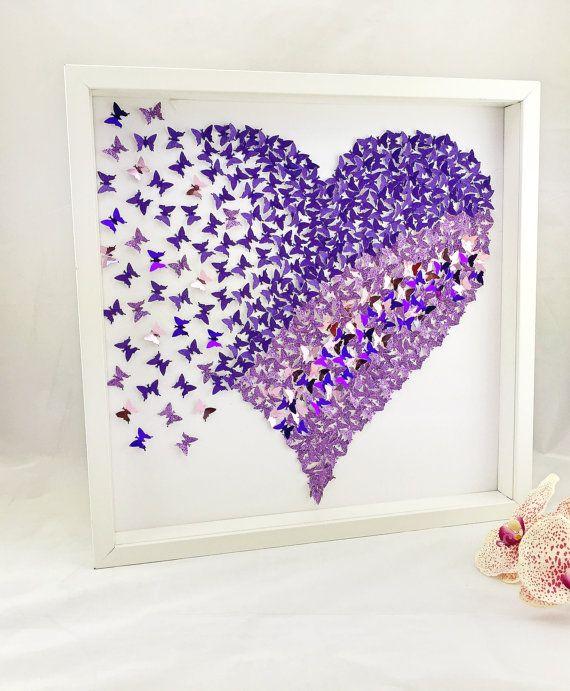 3d butterfly heart butterfly wall art 3d paper for 3d wall butterfly decoration