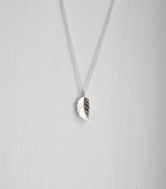 Silver leaf necklace sterling silver leaf pendant tiny leaf silver leaf necklace sterling silver leaf pendant tiny leaf leaf charm little aloadofball Images
