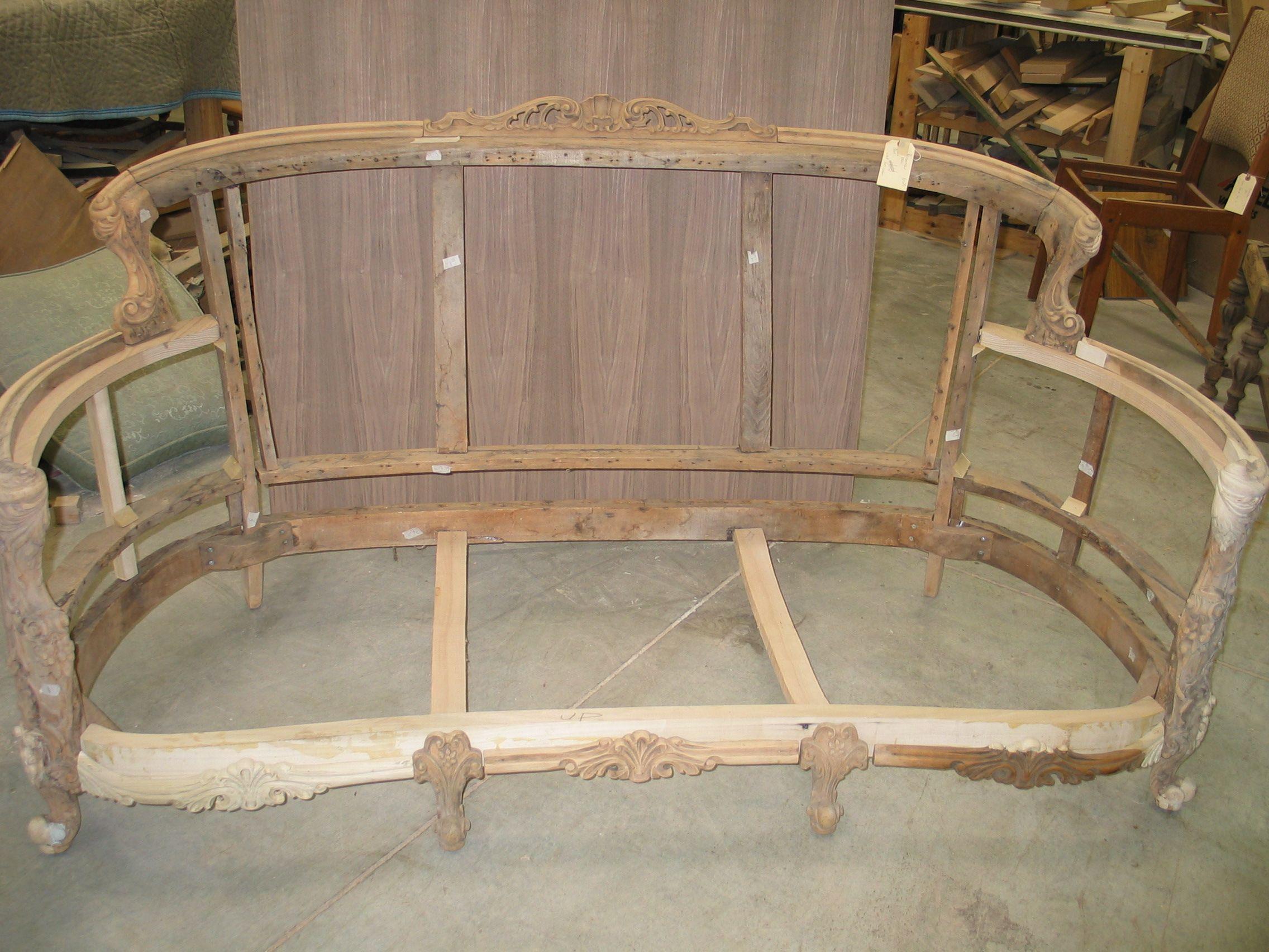vintage sofa frame muebles tapizados Pinterest
