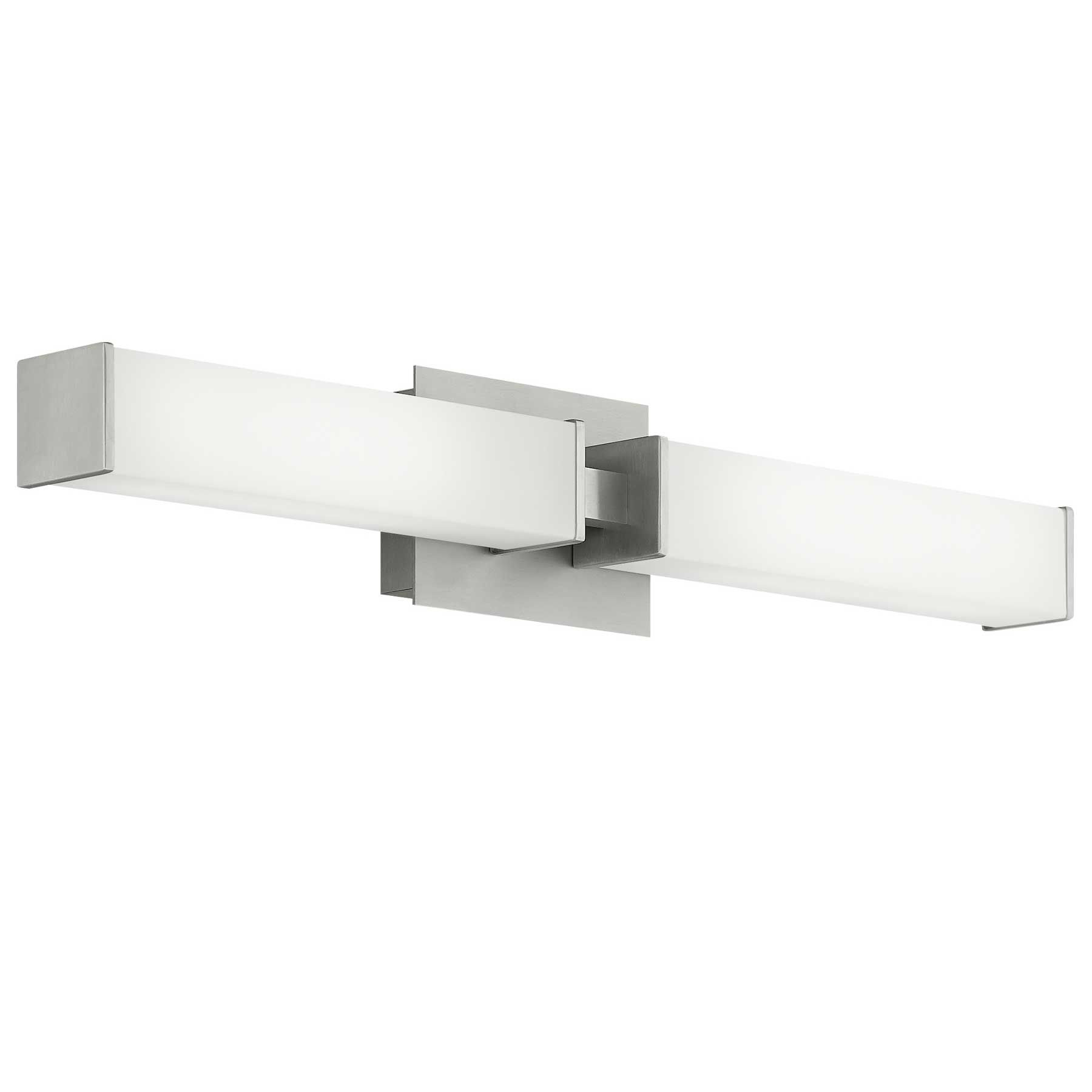 Alden Bath Bar Features Dual Linear Acrylic Shades Providing Both Task And Ambient Ligh In 2020 Bathroom Led Light Fixtures Led Bathroom Lights Bathroom Light Fixtures