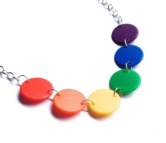 #LGBT #necklace #handmade #RainbowFlag #Lesbian #Gay #bisexual #transgender #LGBTnecklace