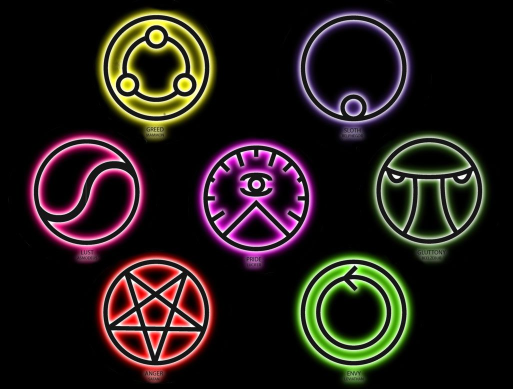 The Seven Deadly Sins Seven Deadly Sins Symbols Seven Deadly