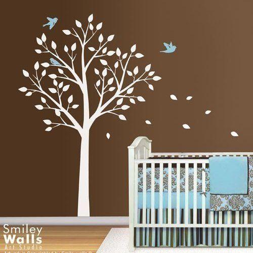 Tree and Cute Birds - Nursery Kids Vinyl Wall Decal