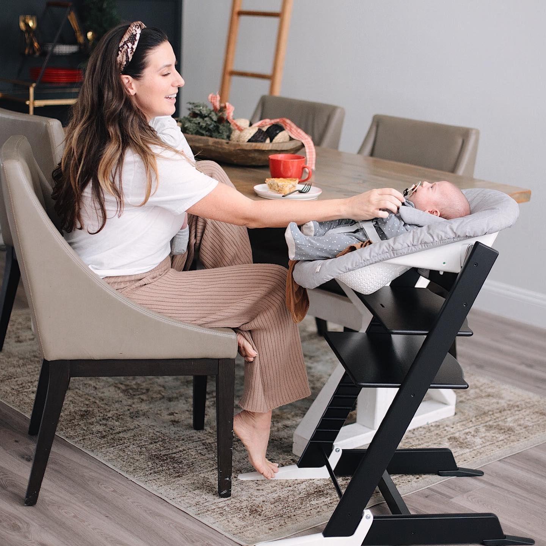 Tripp Trapp Newborn Set Grey In 2020 Baby Chair Baby High Chair Stokke Tripp Trapp Newborn