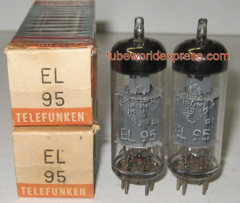 1 Best Pair) 6DL5=EL95 Telefunken Germany <> bottom NOS 19
