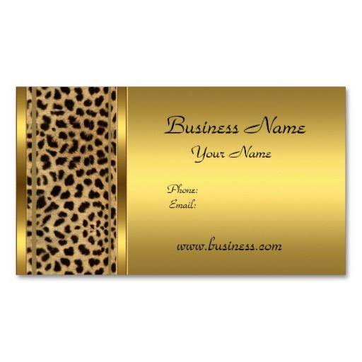 Elegant classy gold black leopard animal print business cards cool elegant classy gold black leopard animal print business cards colourmoves Images