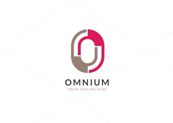 Omnium Letter O Logo Letter Logo Design Logo Design Template Logo Number