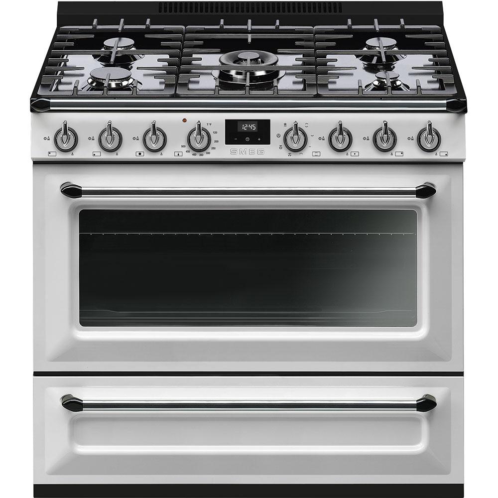 Ranges Electric Tru36gmwh Range Cooker Smeg Freestanding Oven