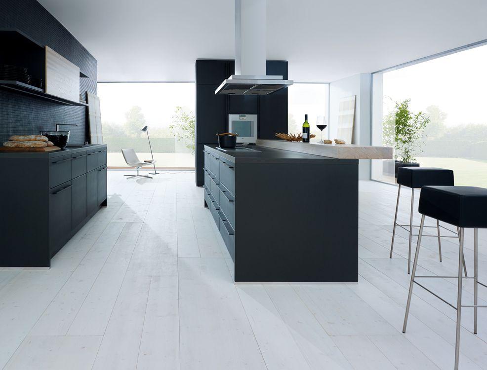 Schüller next125 - NX 500 Lava black matt t. lacquer. | Keuken ...