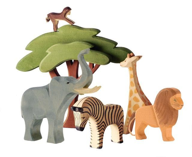 Ostheimer African Animals Wooden Animal Toys African