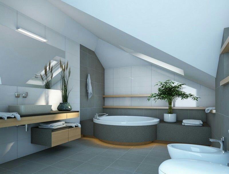 Wohnideen Für Dachschrägen U2013 Gemütliches Bad Im Dachgeschoss
