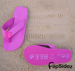 50cc1e035b149 ... FlipSidez custom flip flops leave personalized imprints in sand with every  step. Customize flip flops ...